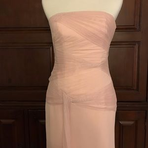 NWT White by Vera Wang dress in blush size 4